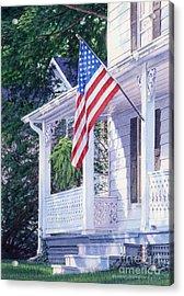 American Porch Acrylic Print by Gloria Johnson