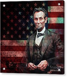 American President Abraham Lincoln 01 Acrylic Print by Gull G