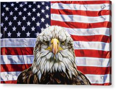 Acrylic Print featuring the photograph American Pride by Scott Carruthers