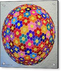 American Quilt Flower Ball Acrylic Print by LeeAnn McLaneGoetz McLaneGoetzStudioLLCcom