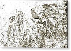 American Revolution Battle Sketch Acrylic Print by Randy Steele