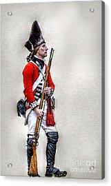 American Revolution British Soldier  Acrylic Print by Randy Steele