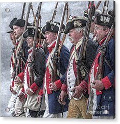 American Revolutionary War Soldiers Acrylic Print