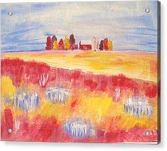 American Riceland Acrylic Print by Belinda Lawson