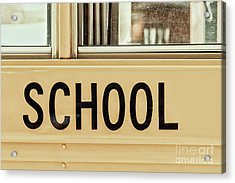 American School Bus Sign Acrylic Print