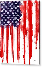 American Spatter Flag Acrylic Print