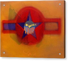 Acrylic Print featuring the painting American Sub Decal by Charles Stuart