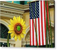 American Sunflower Acrylic Print by Rae Tucker