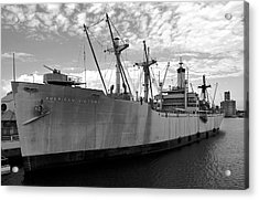 American Victory Ship Tampa Bay Acrylic Print by David Lee Thompson