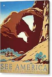 American West Travel 1939 Acrylic Print by Padre Art