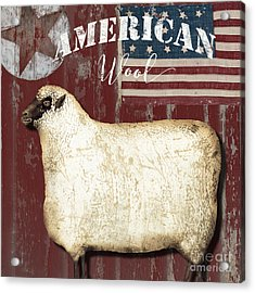 American Wool Acrylic Print by Mindy Sommers