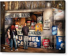Americana - Food - Hot Dogs And Funnel Cakes Acrylic Print by Mike Savad