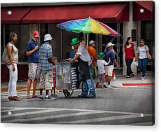 Americana - Mountainside Nj - Buying Ices  Acrylic Print by Mike Savad