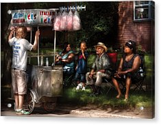 Americana - People - Buying Treats Acrylic Print by Mike Savad
