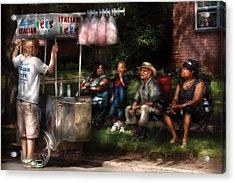 Americana - People - Buying Treats Acrylic Print by Mike Savad