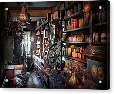 Americana - Store - Corner Grocer  Acrylic Print by Mike Savad