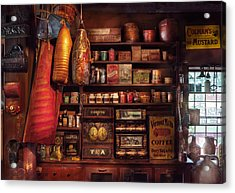 Americana - Store - The Local Grocers  Acrylic Print by Mike Savad