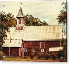 Americana Barn Acrylic Print by Lisa Russo