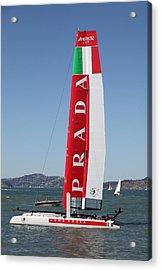 America's Cup In San Francisco - Italy Luna Rossa Paranha Sailboat - 5d18216 Acrylic Print