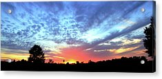City On A Hill - Americus, Ga Sunset Acrylic Print