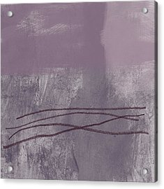 Amethyst 1- Abstract Art By Linda Woods Acrylic Print by Linda Woods