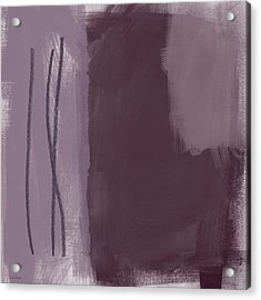 Amethyst 3- Abstract Art By Linda Woods Acrylic Print by Linda Woods