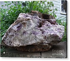 Amethyst Blooms Acrylic Print by The Stone Age