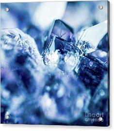 Amethyst Blue Acrylic Print by Sharon Mau
