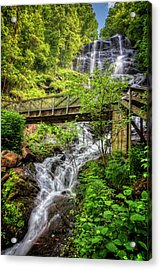 Acrylic Print featuring the photograph Amicalola Falls Top To Bottom by Debra and Dave Vanderlaan