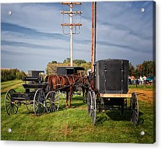 Amish At The Auction Acrylic Print