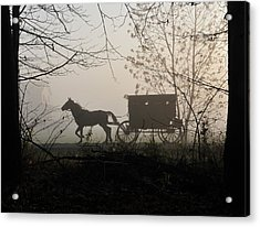 Amish Buggy Foggy Sunday Acrylic Print