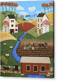 Amish Country Acrylic Print by Mary Charles