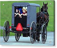 Amish Country Tour Acrylic Print by Randy Matthews