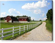 Amish Farm Acrylic Print by Gary Bydlo