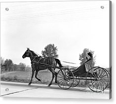 Amish In Horse-drawn Buggy, C.1930s Acrylic Print by H. Armstrong Roberts/ClassicStock