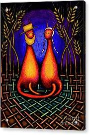 Amish Kats Acrylic Print