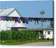 Amish Laundry Acrylic Print