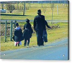 Amish Sunday 1 Of 5 Acrylic Print by Tina M Wenger