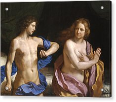 Amnon And Tamar Acrylic Print by Giovanni Francesco Barbieri - Called Guercino