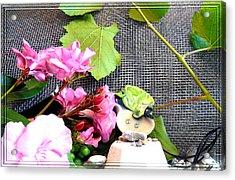 Among Leaves And Flowers Acrylic Print by Chara Giakoumaki