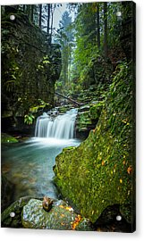 Among The Green Rocks Acrylic Print