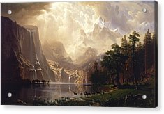 Among The Sierra Nevada Acrylic Print by Albert Bierstadt