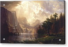 Among The Sierra Nevada, California, 1868 Acrylic Print
