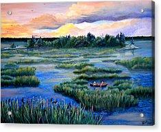 Amongst The Reeds Acrylic Print