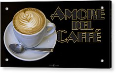 Amore Del Caffe Poster Acrylic Print