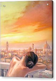 Amore Di Firenze Love Of Florence Acrylic Print