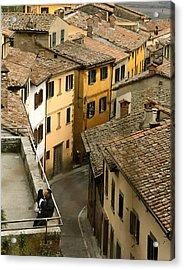 Amore In Cortona Acrylic Print by Al Hurley