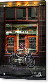 Acrylic Print featuring the photograph Amstel Bier Bicycle by Craig J Satterlee