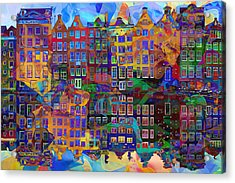 Amsterdam Abstract Acrylic Print by Jacky Gerritsen