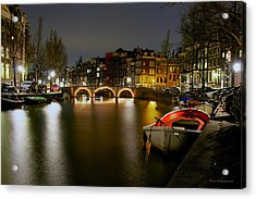 Amsterdam At Night Acrylic Print